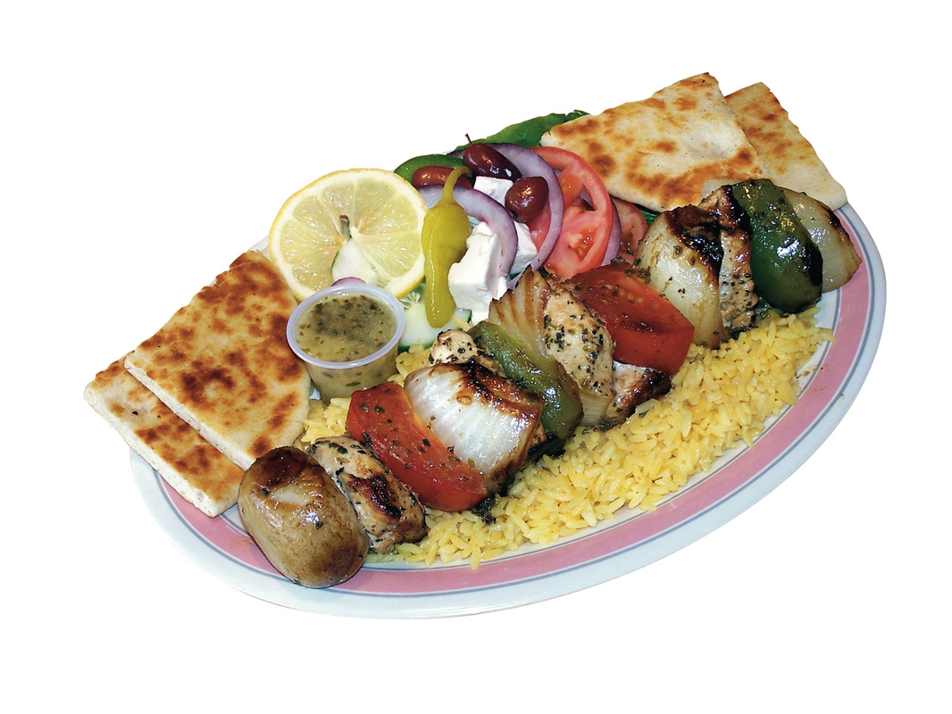 Chicken or Pork Souvlaki Sandwich $7.25